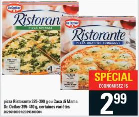 Pizza Ristorante ou Casa Di Mama Dr. Oetker du 30 au 5 février 2020