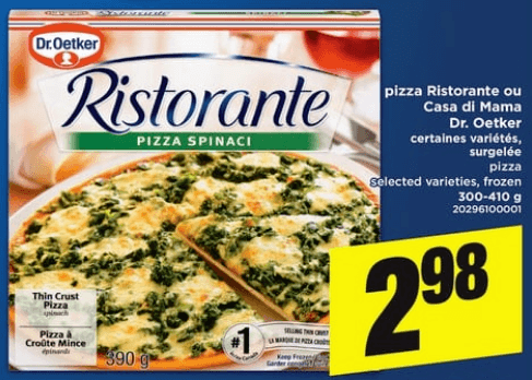 Pizza Ristorante ou Casa Di Mama Dr. Oetker du 30 au 5 juin 2019