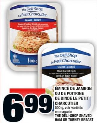 Émincé de Jambon ou de Poitrine de Dinde le Petit Charcutier 500g du 30 au 5 juin 2019