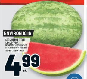 Gros Melon D'eau Sans Pépins du 30 au 6 mai 2020