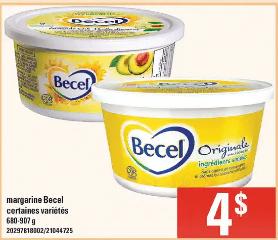 Margarine Becel du 30 au 6 mai 2020