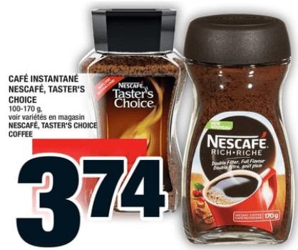Café Instantané Nescafé, Taster's Choice du 31 au 6 novembre 2019