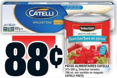 Pâtes Alimentaires Catelli 500g du 31 au 6 novembre 2019