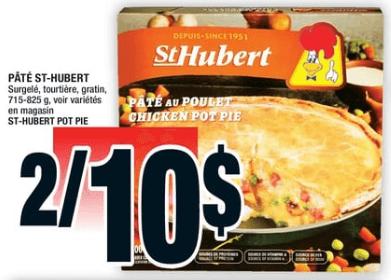 Pâté St-Hubert 800g du 31 au 6 novembre 2019