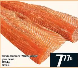 Filets de Saumon de L'atlantique Frais du 4 au 10 juin 2020