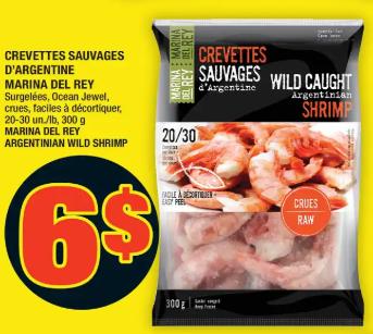 Crevettes Sauvages D'argentine Marina DEL Rey 300g 20-30 du 5 au 11 mars 2020
