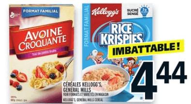 Céréales Kellogg's, General Mills familiale du 5 au 11 septembre 2019