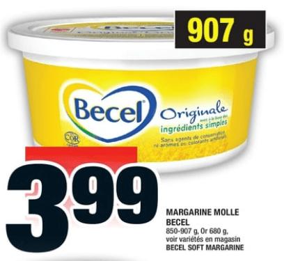 Margarine Molle Becel 907g du 5 au 11 septembre 2019