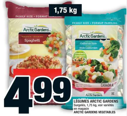 Légumes Arctic Gardens du 6 au 12 février 2020