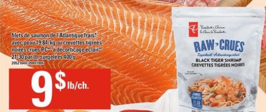 Filets de Saumon de L'atlantique Frais avec Peau du 6 au 12 juin 2019