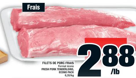 Filets de Porc Frais du 7 au 13 novembre 2019