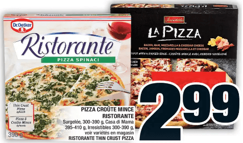 Pizza Croûte Mince Ristorante, Casa Di Mama, Irresistibles du 7 au 13 novembre 2019