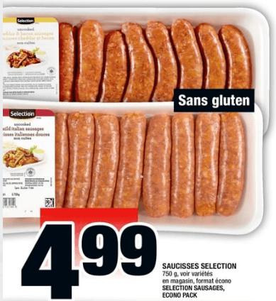 Saucisses Selection 750g du 8 au 14 août 2019