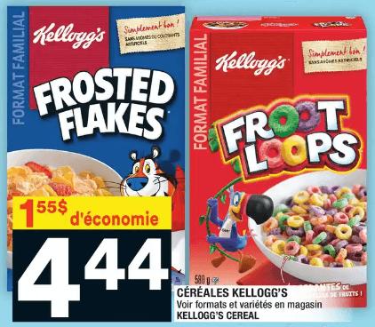 Céréales Kellogg's General Mills du 9 au 15 janvier 2020