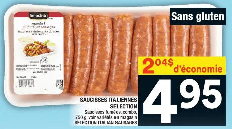 Saucisses Italiennes Selection 750g du 9 au 15 janvier 2020