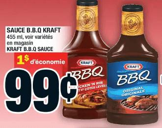 Sauce B.B.Q Kraft du 9 au 15 juillet 2020
