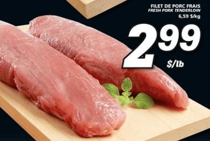 Filet de Porc Frais du 9 au 15 mai 2019