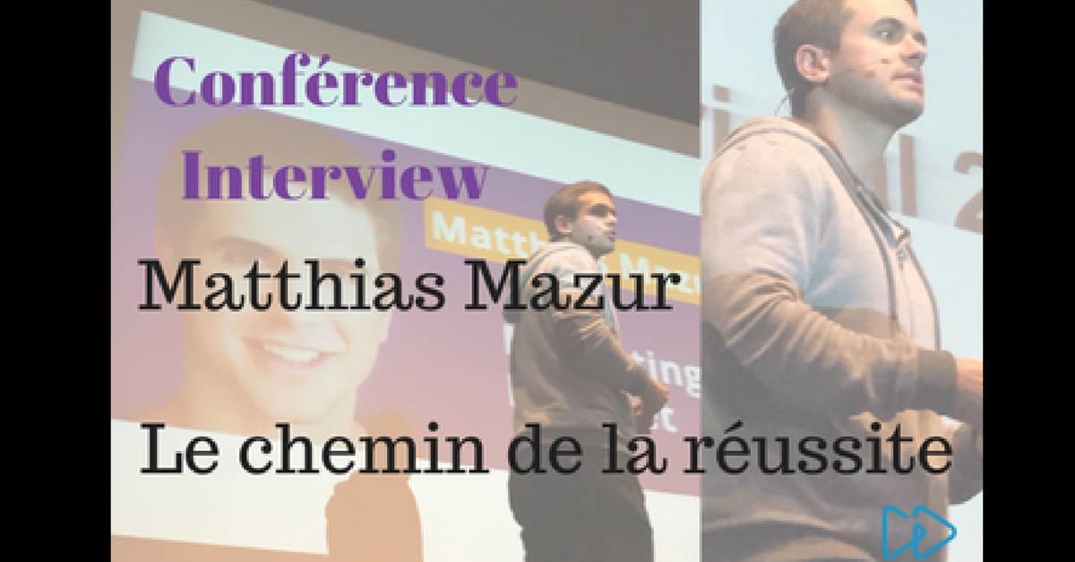Conférence Mathias Mazur