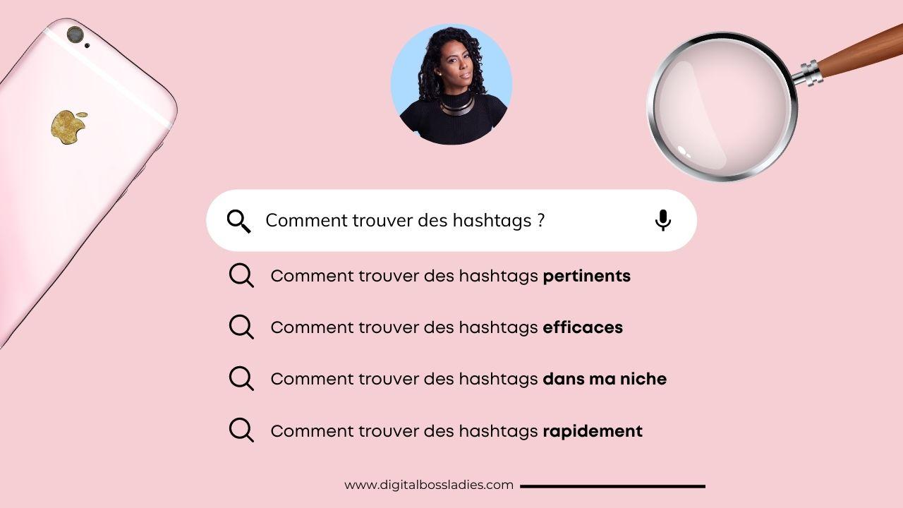 comment trouver des hashtags ?