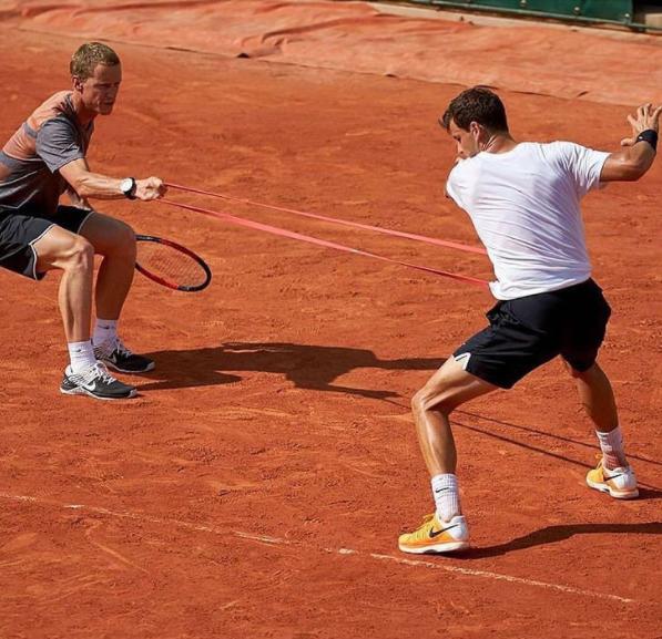 Sébastien Durand accompagnateur de plusieurs joueurs de tennis
