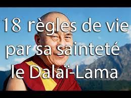 18 régles de Vie évocatrices du Dalaï Lama pour grandir dans la paix, le partage et l'échange