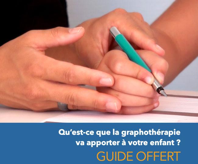 Guide gratuit sur le rééducation de l'écriture - graphothérapie