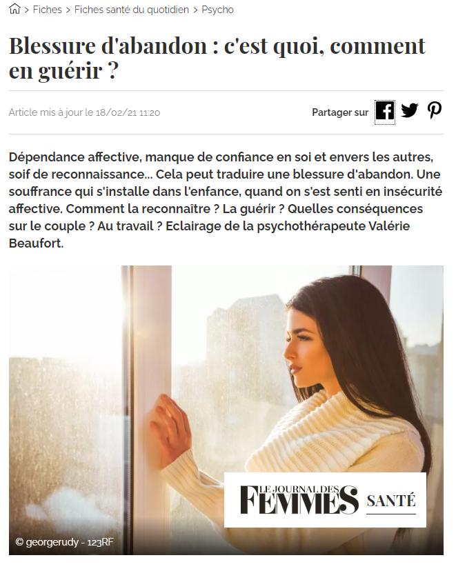 Un article de Anaïs Thiébaux pour Le Journal Des Femmes
