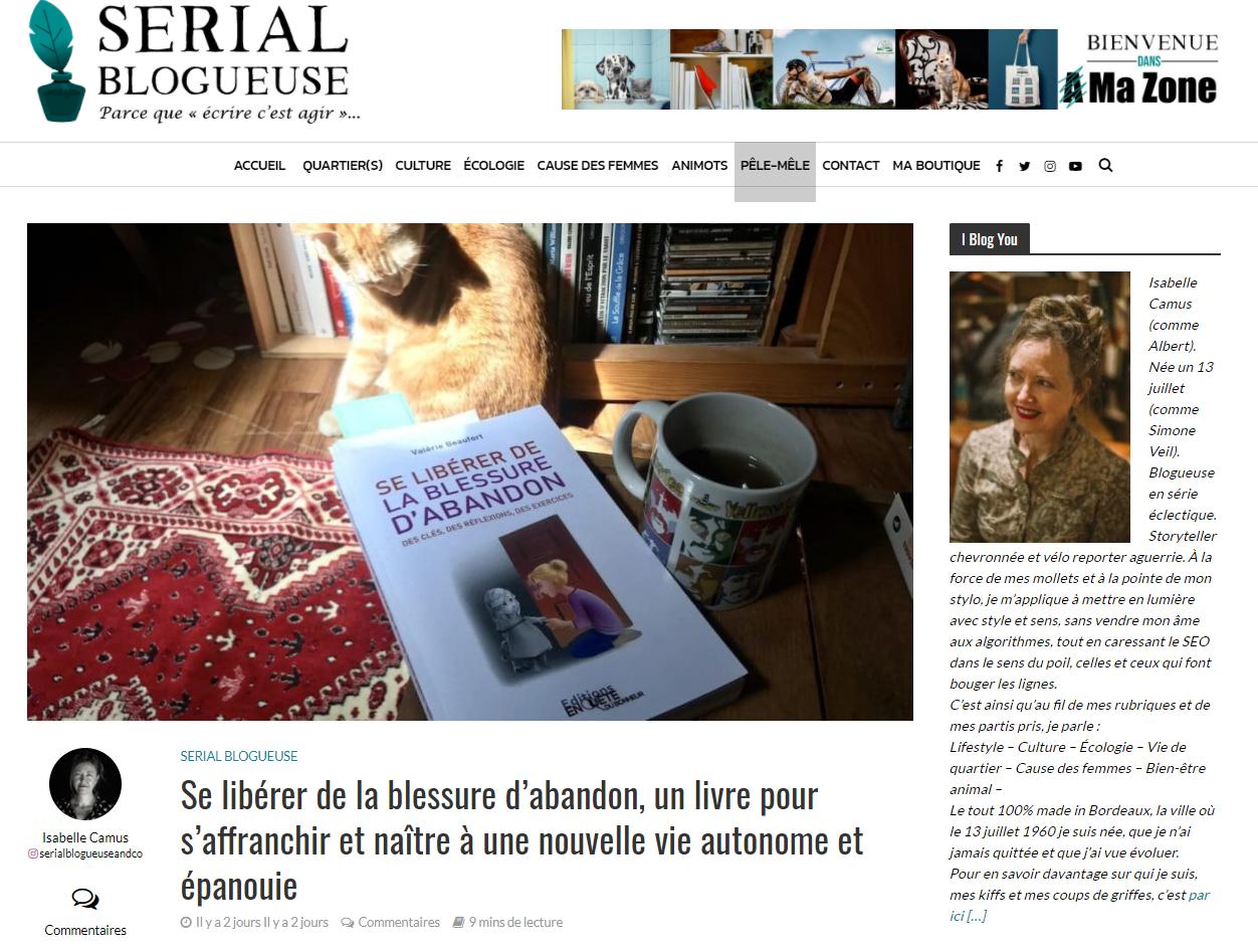 Un article d'Isabelle Camus, Serial Blogueuse