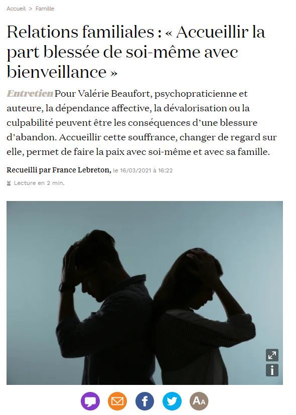 Un article de France Lebreton pour La Croix Magazine