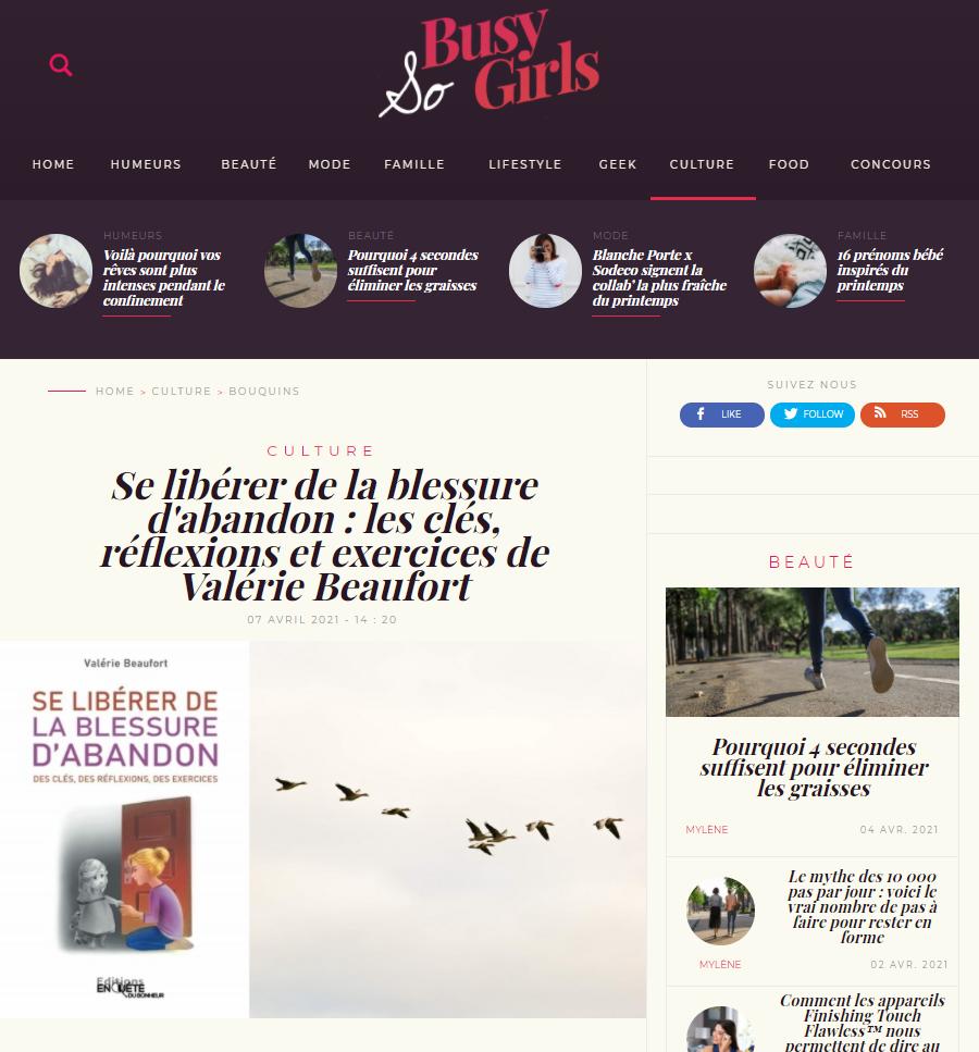 Un article de Mylène, Rédactrice en Chef du webzine So Busy Girls