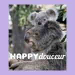 logo Happydouceur Maman et bébé koala pour la nature et l'amour maternel