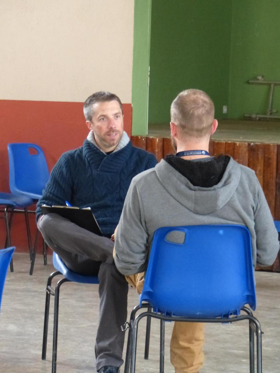 Rencontre en tête à tête  avec un des participants.
