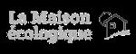 Logo de La Maison écologique, le premier magazine 100% écoconstruction en France, créé en 2001 sous forme associative (aujourd'hui devenu SCOP)