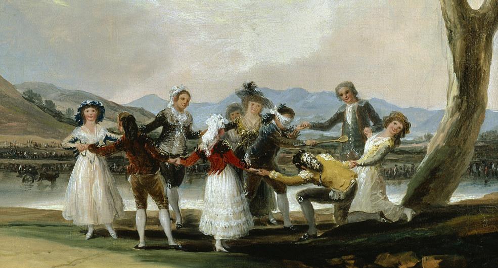 Peinture du 17ème siècle représentant des nobles jouant à Colin-Maillart