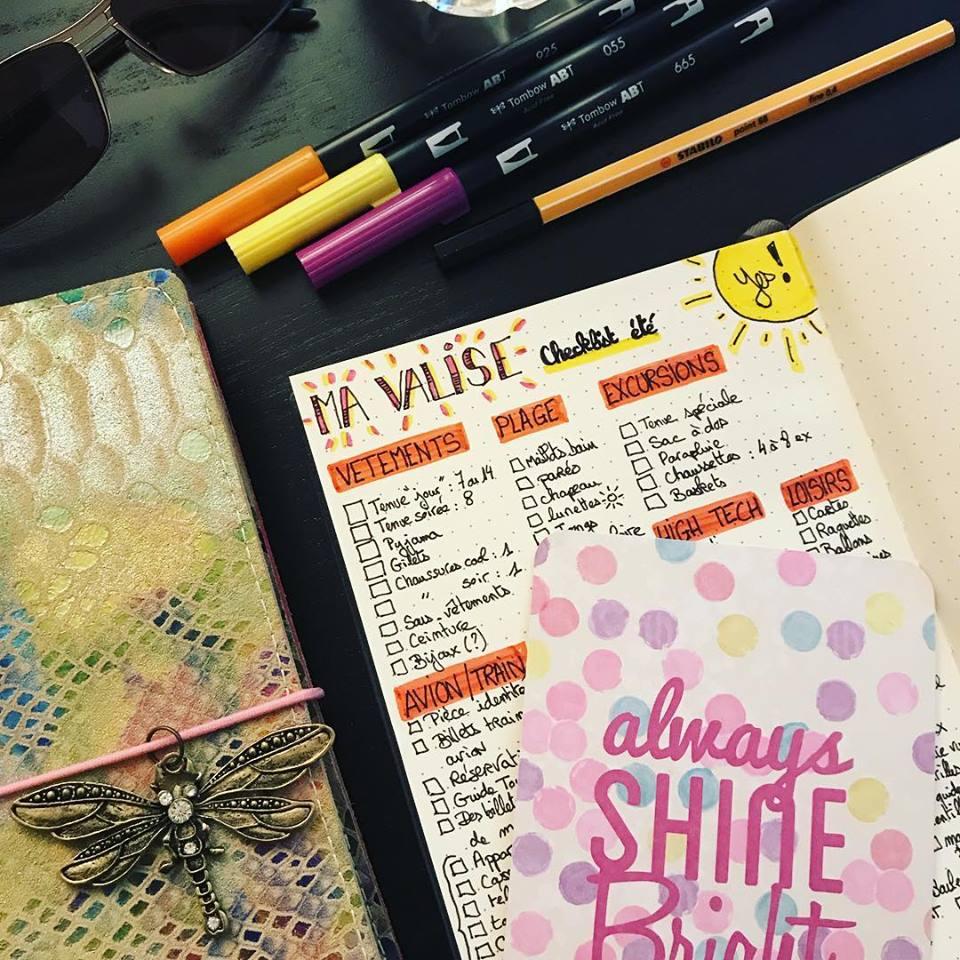 Checklist d'été... Ma VALISE façon Bullet Journal