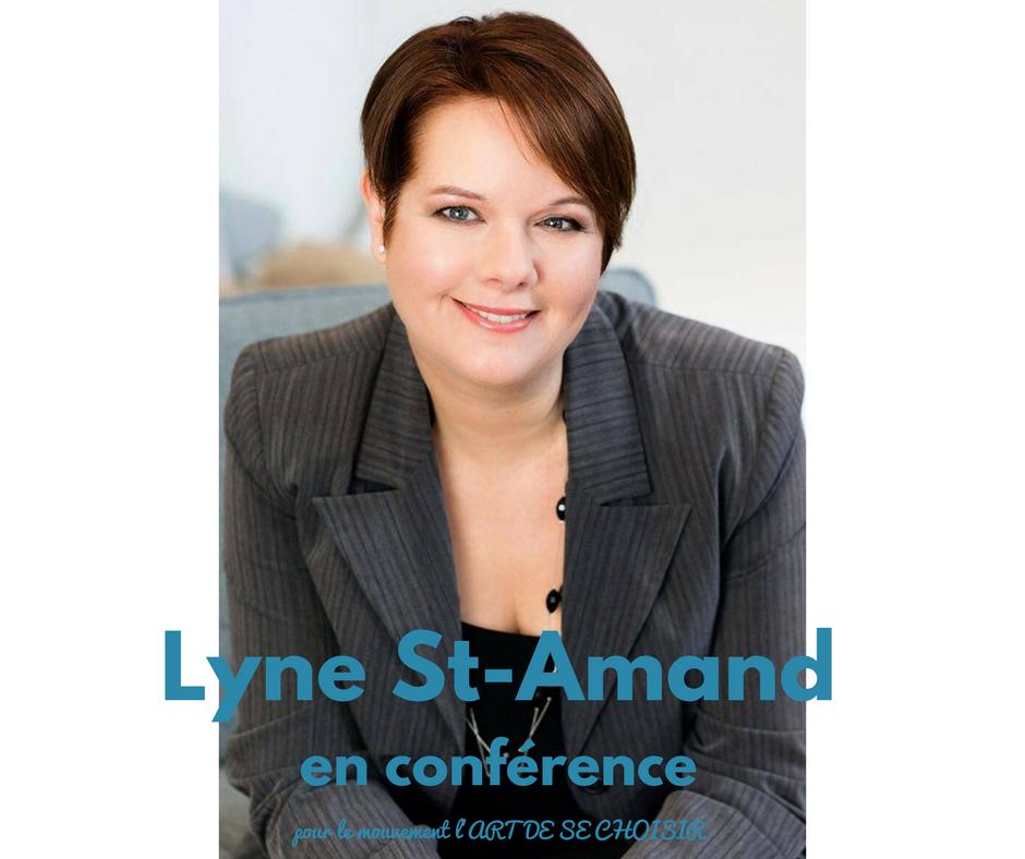 Lyne St-Amand, le mouvement l'art de se choisir