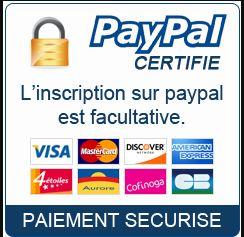 Règlement sécurisé par Paypal