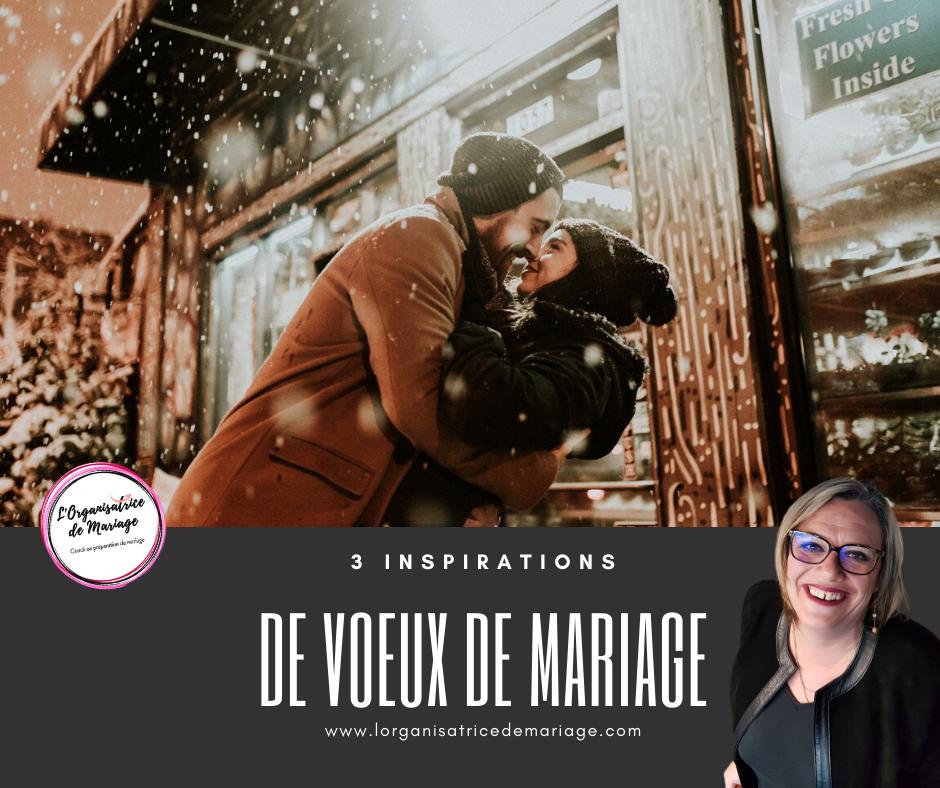 3 Inspirations pour rédiger ses voeux de mariage
