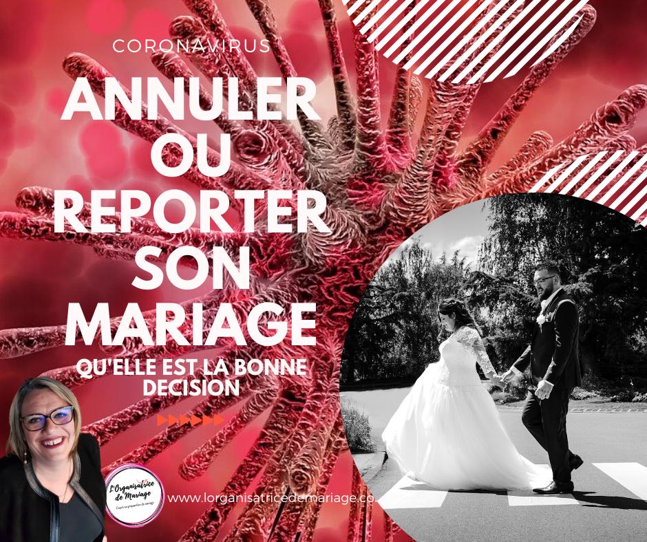 CORONAVIRUS : Annuler ou reporter son mariage, quelle est la bonne décision ?