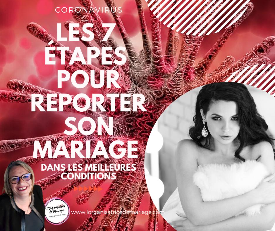 CORONAVIRUS : Les 7 étapes pour reporter son mariage dans les meilleures conditions