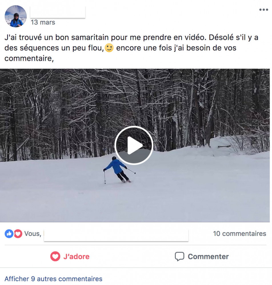 Exemple de publication facebook