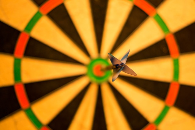 flèche ayant atteint sa cible