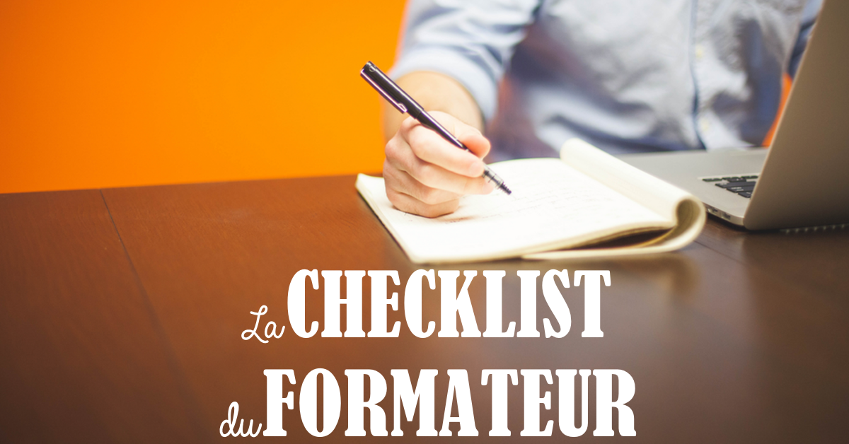La checklist du formateur en ligne