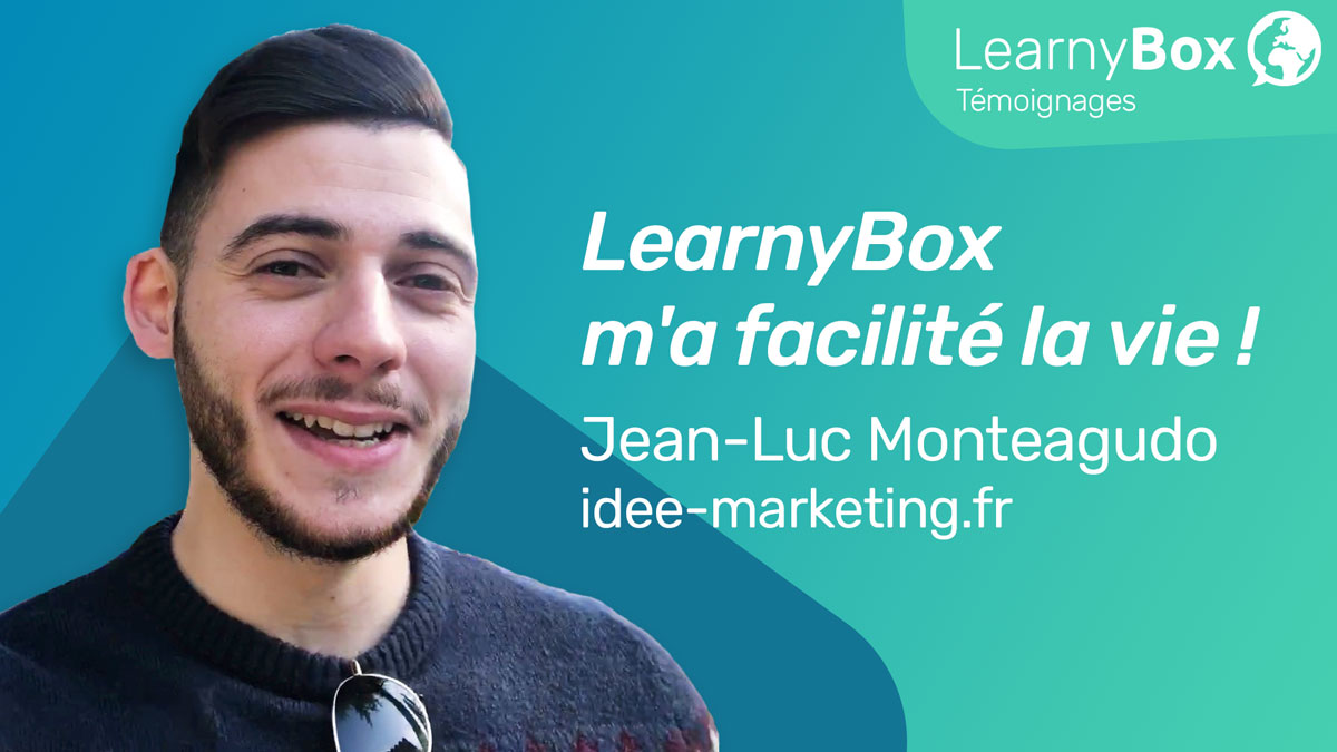 LearnyBox m'a facilité la vie ! Jean-Luc Monteagudo