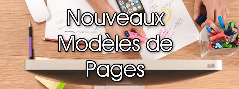 Des modèles de pages à votre service sur LearnyBox