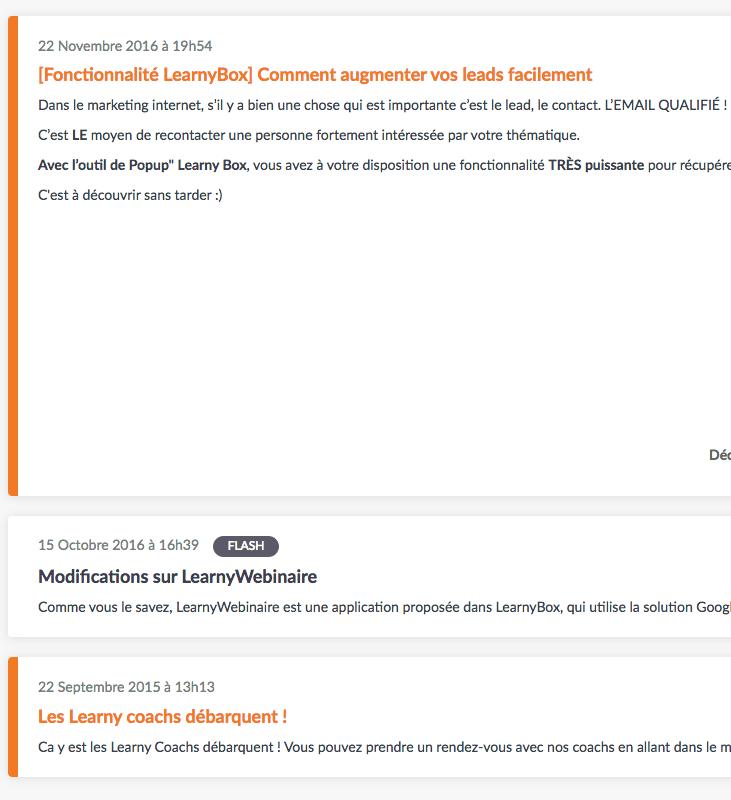 Capture d'écran LearnyFlash