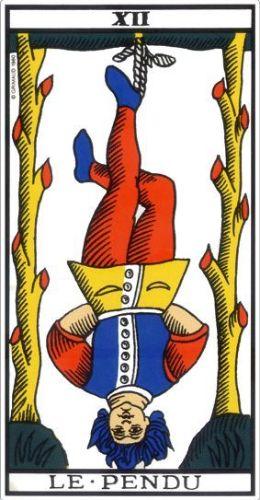 Le Tarot de Marseille carte 12 le pendu