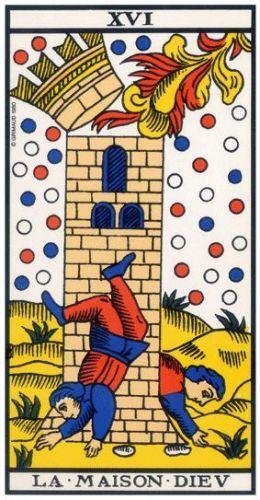 Le Tarot de Marseille carte 16 la maison dieu la tour