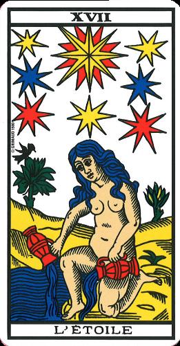 Le Tarot de Marseille carte 17 l'étoile