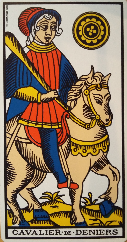cavalier de deniers tarot de marseille bykokolou.com
